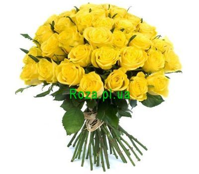 """Bouquet of 35 yellow roses"" in the online flower shop roza.pl.ua"