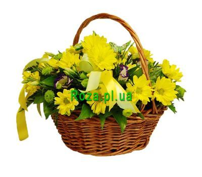 """Basket of 9 chrysanthemums"" in the online flower shop roza.pl.ua"
