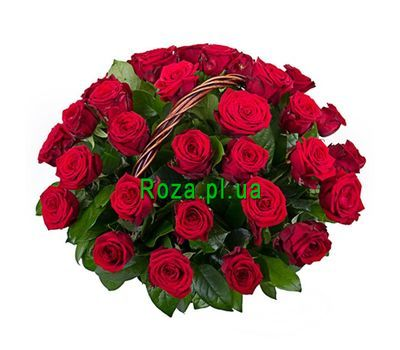 """Basket of 35 red roses"" in the online flower shop roza.pl.ua"