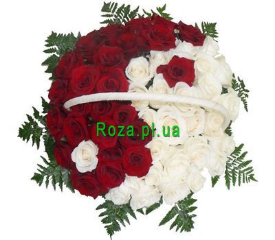 """Basket with 51 roses"" in the online flower shop roza.pl.ua"