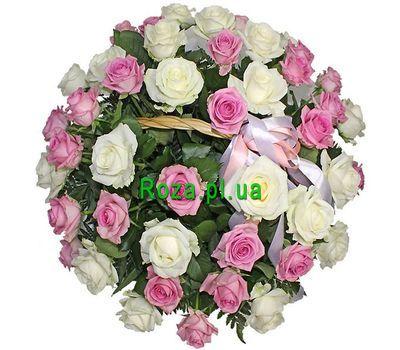 """""""Basket of 41 roses"""" in the online flower shop roza.pl.ua"""