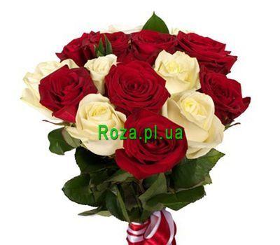 """Букет із 15 троянд"" в интернет-магазине цветов roza.pl.ua"