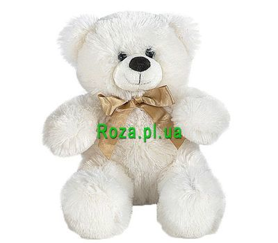 """Soft toy - White bear"" in the online flower shop roza.pl.ua"