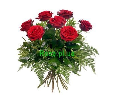 """Bouquet of 7 red roses"" in the online flower shop roza.pl.ua"
