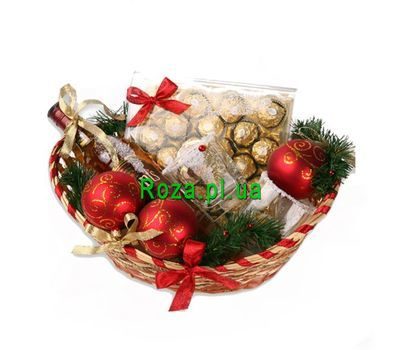"""Christmas basket"" in the online flower shop roza.pl.ua"