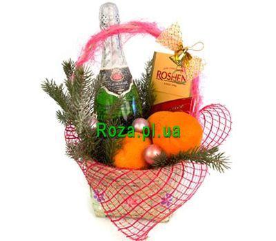 """""""Новогодняя корзинка"""" в интернет-магазине цветов roza.pl.ua"""