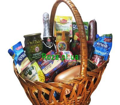 """Gift basket"" in the online flower shop roza.pl.ua"