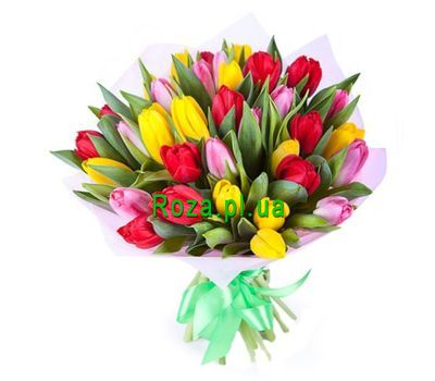 """Bouquet of 45 Tulips"" in the online flower shop roza.pl.ua"