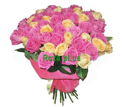 """Bouquet of 51 roses"" in the online flower shop roza.pl.ua"