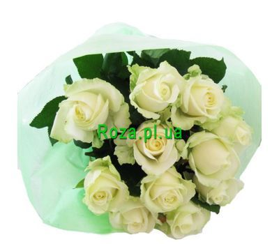 """Bouquet of 11 white roses"" in the online flower shop roza.pl.ua"