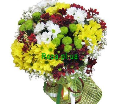 """Bouquet of 17 chrysanthemums"" in the online flower shop roza.pl.ua"