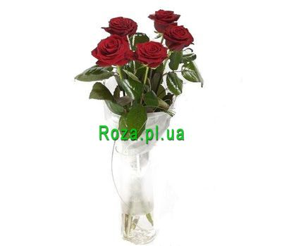 """Bouquet of 5 red roses"" in the online flower shop roza.pl.ua"