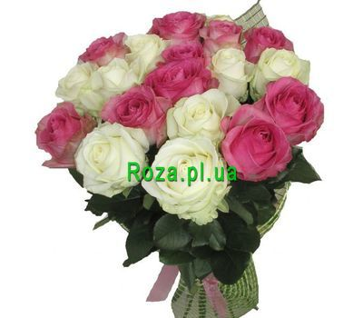 """Bouquet of 19 roses"" in the online flower shop roza.pl.ua"