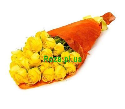 """Bouquet of 23 yellow roses"" in the online flower shop roza.pl.ua"