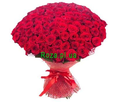 """Bouquet of 101 red roses"" in the online flower shop roza.pl.ua"